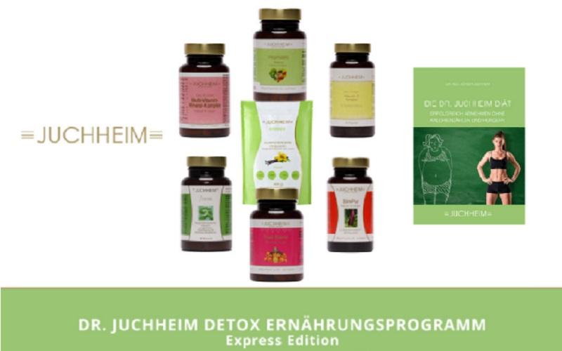 Ernährungsprogramm von Dr. Juchheim mit Nahrungsergänzung für 4 Wochen Ernährungsumstellung